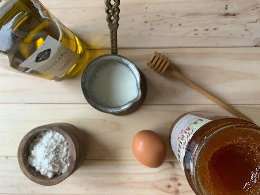 ingredientes receta pancakes miel
