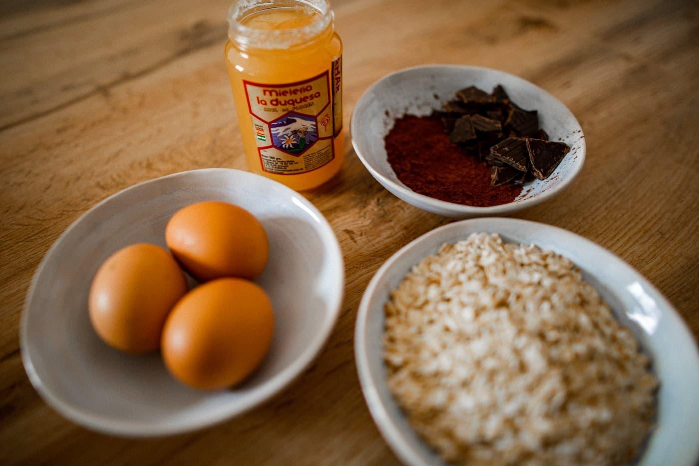 ingredientes galletas avena y miel