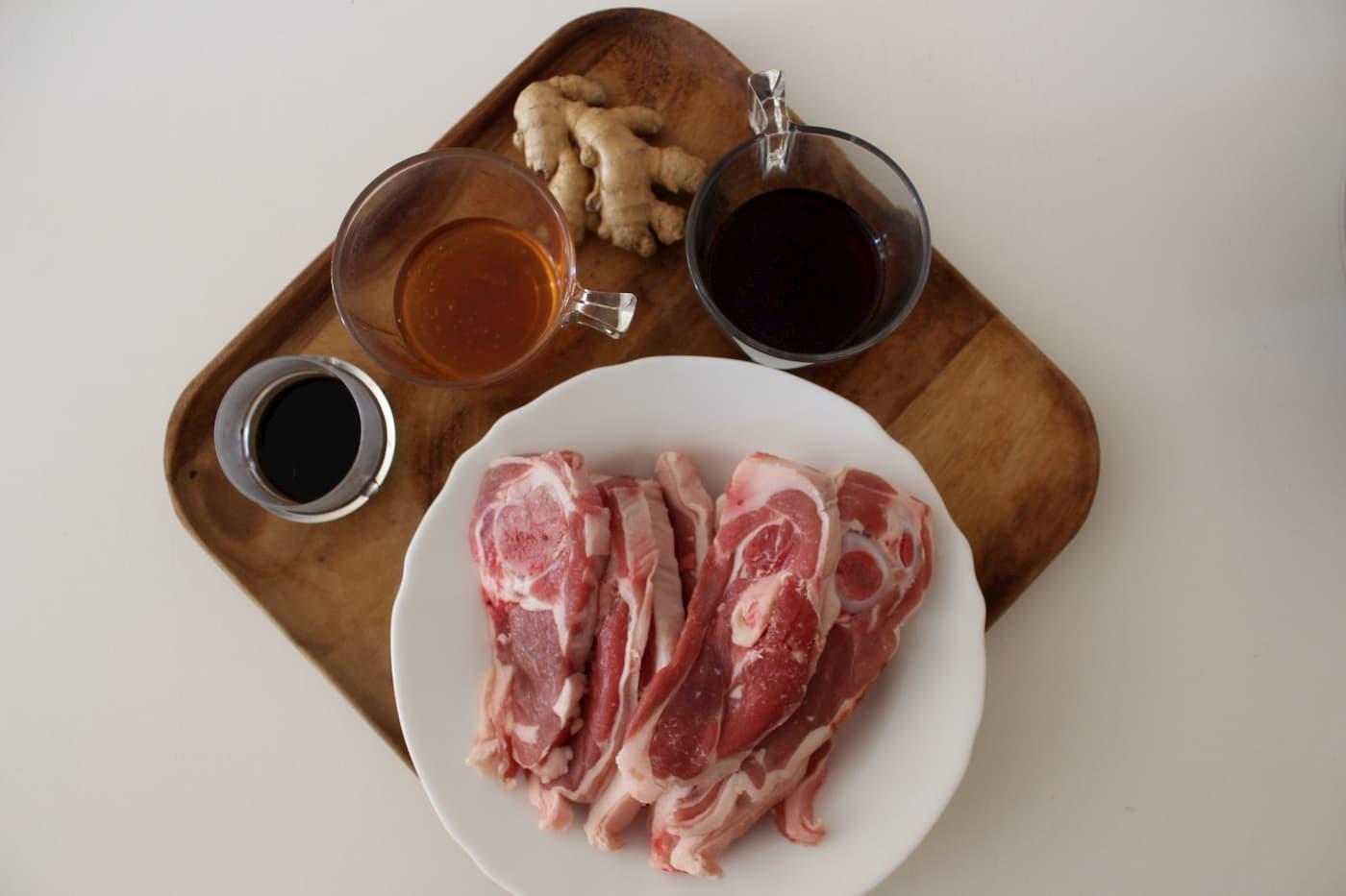 ingredientes para la preparación de la receta