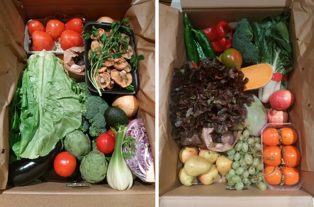 caja de verdura local