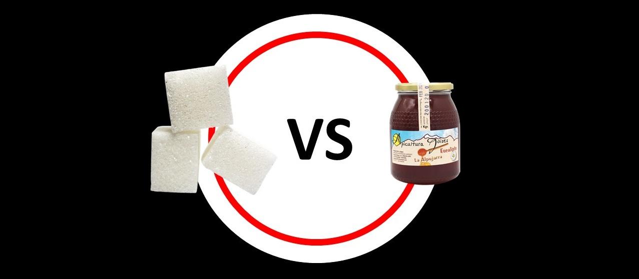 azúcar o miel para endulzar